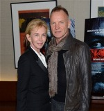 "Sting and Trudie attending ""Argo"" in New York"