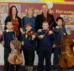 Sting and Kathryn Tickell Visit Newcastle Primary School Assembly