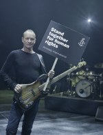 Les b�n�voles d'Amnesty International sur la tourn�e de Sting