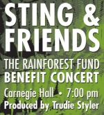 Rainforest concert Sting& friends